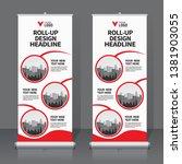 roll up banner design template  ... | Shutterstock .eps vector #1381903055