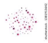 falling stars confetti... | Shutterstock .eps vector #1381913642