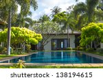 swimming pool and yard of the... | Shutterstock . vector #138194615