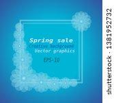 spring sale background. spring...   Shutterstock .eps vector #1381952732