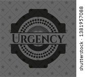 urgency realistic dark emblem.... | Shutterstock .eps vector #1381957088