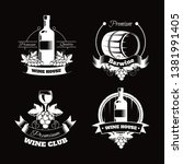 wine club house logo templates... | Shutterstock .eps vector #1381991405