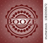 booze red icon or emblem | Shutterstock .eps vector #1382030672