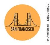 san francisco famous bridge.... | Shutterstock .eps vector #1382040572