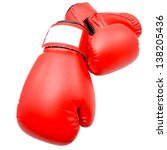 Boxing gloves with Clipping path - stock photo