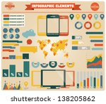 collection of infographics... | Shutterstock .eps vector #138205862