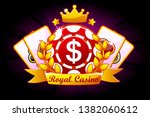 casino royal banner with ribbon ...