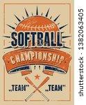 softball championship...   Shutterstock .eps vector #1382063405