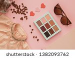 women's dress  makeup shadows ...   Shutterstock . vector #1382093762