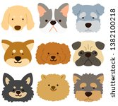simple and flat colored dogs set | Shutterstock .eps vector #1382100218