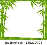 illustration with bamboo frame... | Shutterstock .eps vector #138210728