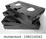 four old vhs cassettes with...   Shutterstock . vector #1382110262