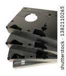four old vhs cassettes with...   Shutterstock . vector #1382110265