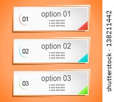 colorful options banner... | Shutterstock .eps vector #138211442