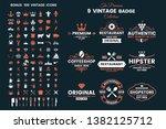vintage retro vector logo for... | Shutterstock .eps vector #1382125712