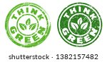 think green stamps in green... | Shutterstock .eps vector #1382157482