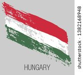 flag of hungary. vector... | Shutterstock .eps vector #1382168948