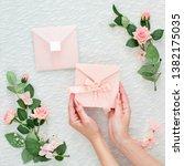 mock up of invitation to...   Shutterstock . vector #1382175035