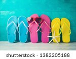 summer concept background with... | Shutterstock . vector #1382205188