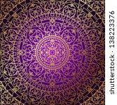 vector oriental purple... | Shutterstock .eps vector #138223376