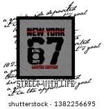 stylish trendy slogan tee t... | Shutterstock .eps vector #1382256695