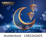ramadan kareem concept banner ...   Shutterstock .eps vector #1382262605