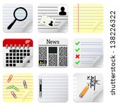 document icons for website | Shutterstock . vector #138226322