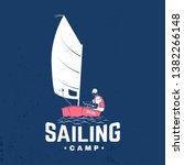 sailing camp badge. vector... | Shutterstock .eps vector #1382266148