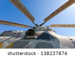 Propeller Of Helicopter Agains...