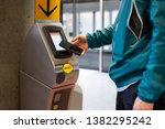 nfc contactless payment with... | Shutterstock . vector #1382295242