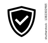 shield icon vector design... | Shutterstock .eps vector #1382302985