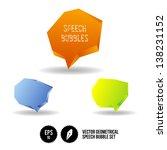 vector geometrical speech... | Shutterstock .eps vector #138231152