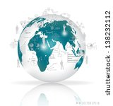 modern globe with elements of... | Shutterstock .eps vector #138232112