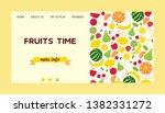 fruit pattern vector landing... | Shutterstock .eps vector #1382331272