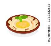 lebanese mediterranean hummus... | Shutterstock .eps vector #1382332688