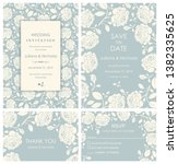 wedding invitation  with rsvp ...   Shutterstock .eps vector #1382335625