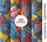 birthday party vector seamless... | Shutterstock .eps vector #1382342582