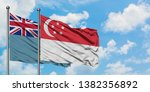tuvalu and singapore flag...   Shutterstock . vector #1382356892