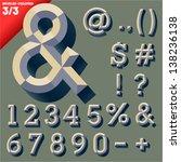vector illustration of old... | Shutterstock .eps vector #138236138