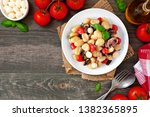 gnocchi with tomatoes ... | Shutterstock . vector #1382365895
