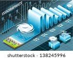 isometric tornado hurricane... | Shutterstock .eps vector #138245996