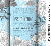 invitation or wedding card with ... | Shutterstock .eps vector #138246842
