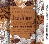 invitation or wedding card with ... | Shutterstock .eps vector #138246932