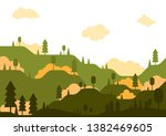 vector rural environment... | Shutterstock .eps vector #1382469605