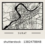abstract surat city india map   ... | Shutterstock .eps vector #1382478848