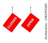 """red sign """"closed"""" and """"open""""... 