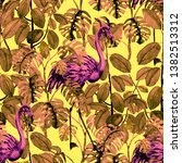 tropical seamless pattern with... | Shutterstock . vector #1382513312