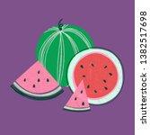 hand drawn summer card template ... | Shutterstock . vector #1382517698