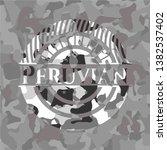 peruvian grey camo emblem....   Shutterstock .eps vector #1382537402
