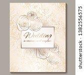 luxury gold vintage wedding...   Shutterstock .eps vector #1382556575